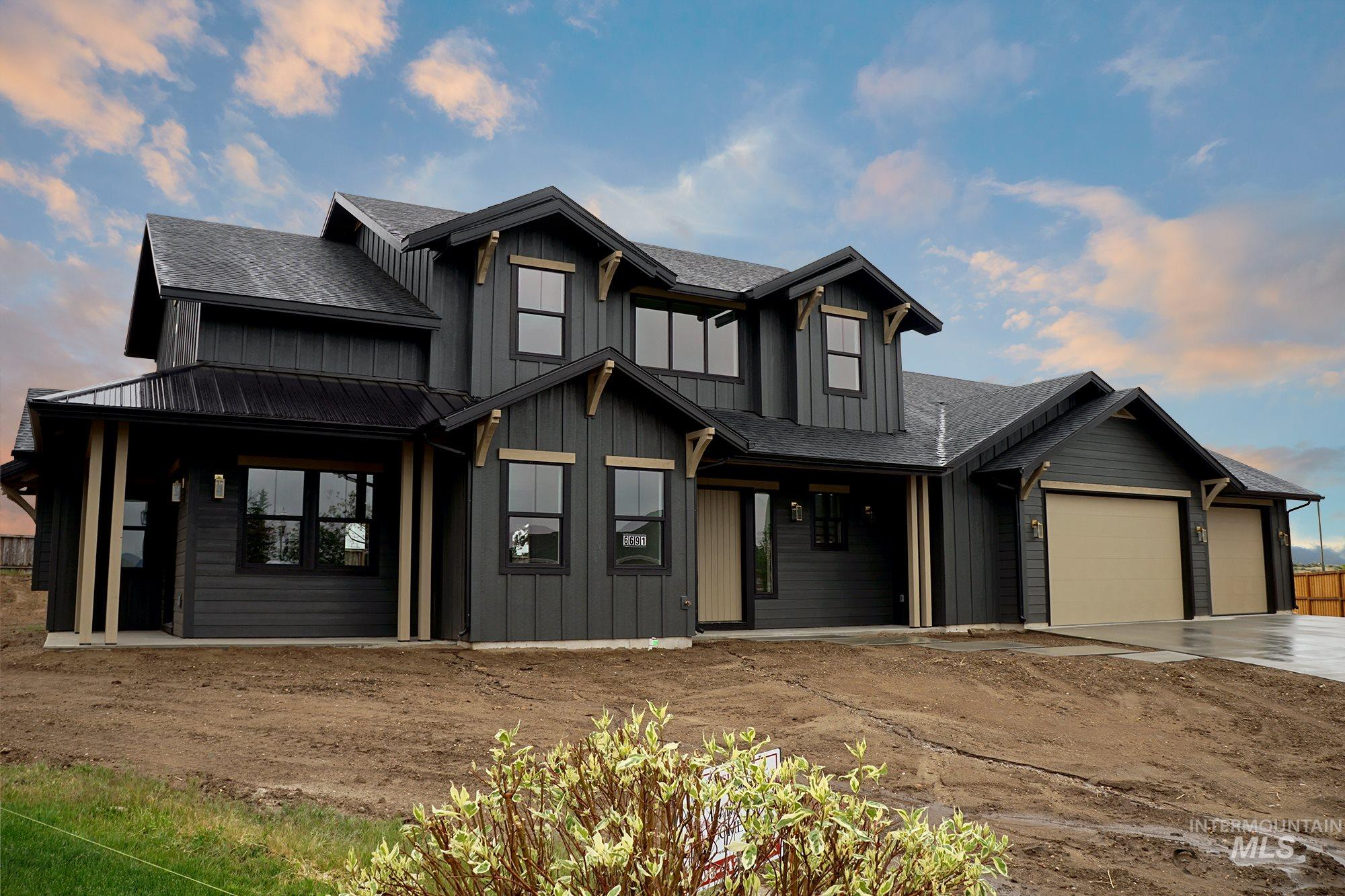 Huge lot .42 acre off cul-da-sac w/views in East Boise! Unique Modern Farmhouse flair w/designer finishes. Family size kitchen w/large center island Bosch SS appl. double ovens, ample dovetail soft close cabinetry, slab quartz & farm style sink. Open living & dining layout, private office, rec room upstairs, + hobby rm.  Rare details abound. Main-level master suite, his & hers closets. Full bath off the massive 1233 SF garage +room for extra parking. 10 mins to downtown, BOI Airport, Trails, & Lucky Peak
