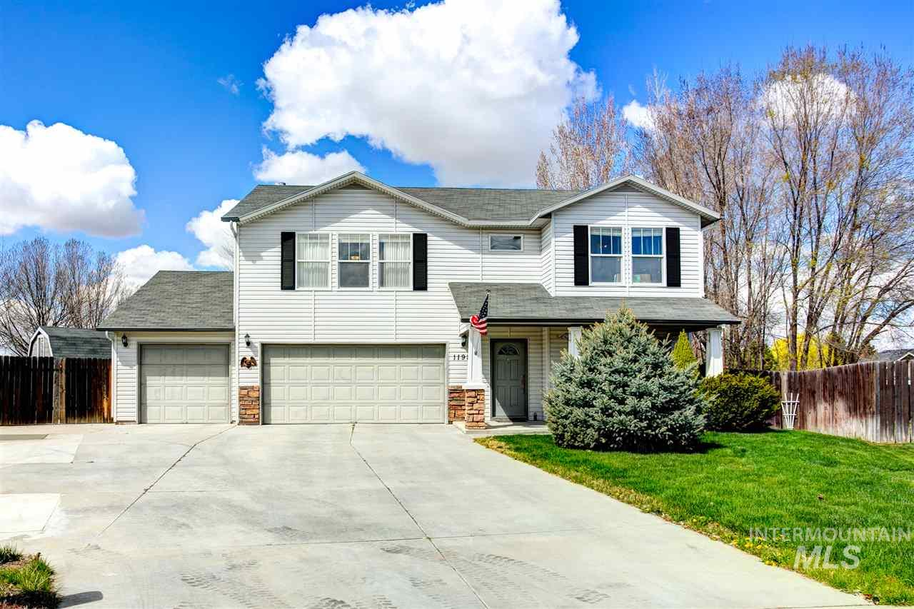 Tastefully updated home on rare 1/4 acre cul-de-sac lot w/no back neighbors. Don't miss the ultimate mancave shop w/its own electric meter & loft, & RV parking galore. Relax in the hot tub (included along w/ W/D & fridge) resting on the expansive trex deck overlooking a maturely landscaped yard & firepit. Open concept layout, office could be add'l bedroom. Engineered hardwoods, spa like master w/seperate tub & shower. Farmhouse styled kitchen w/reverse osmosis purifier, pantry & custom contemporary cabinets