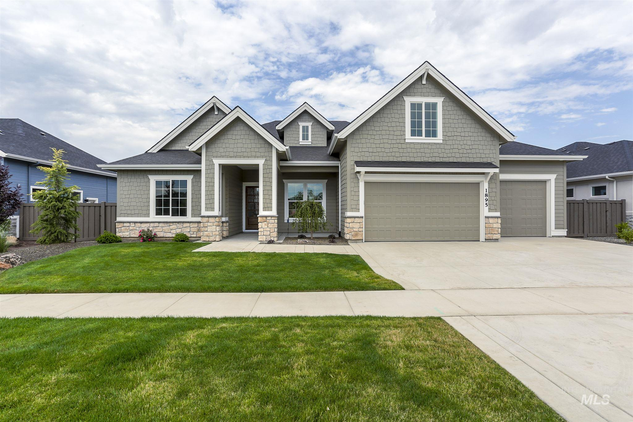 """PHOTOS SIMILAR - The """"Andrew Michael"""" by James Clyde Homes. All the bells and whistles you've come to expect from James Clyde: Extensive hardwood, amazing SS Thermador appliances, custom cabinetry, breathtaking trim work & detail that only a true craftsman can deliver! The large Secret and Bonus room. Check out the oversized garage and epoxy flooring! Full landscaping front & back plus fencing! What else could you ask for !ESTIMATED COMPLETE DATE OF 8/10/2020 . BTVAI"""