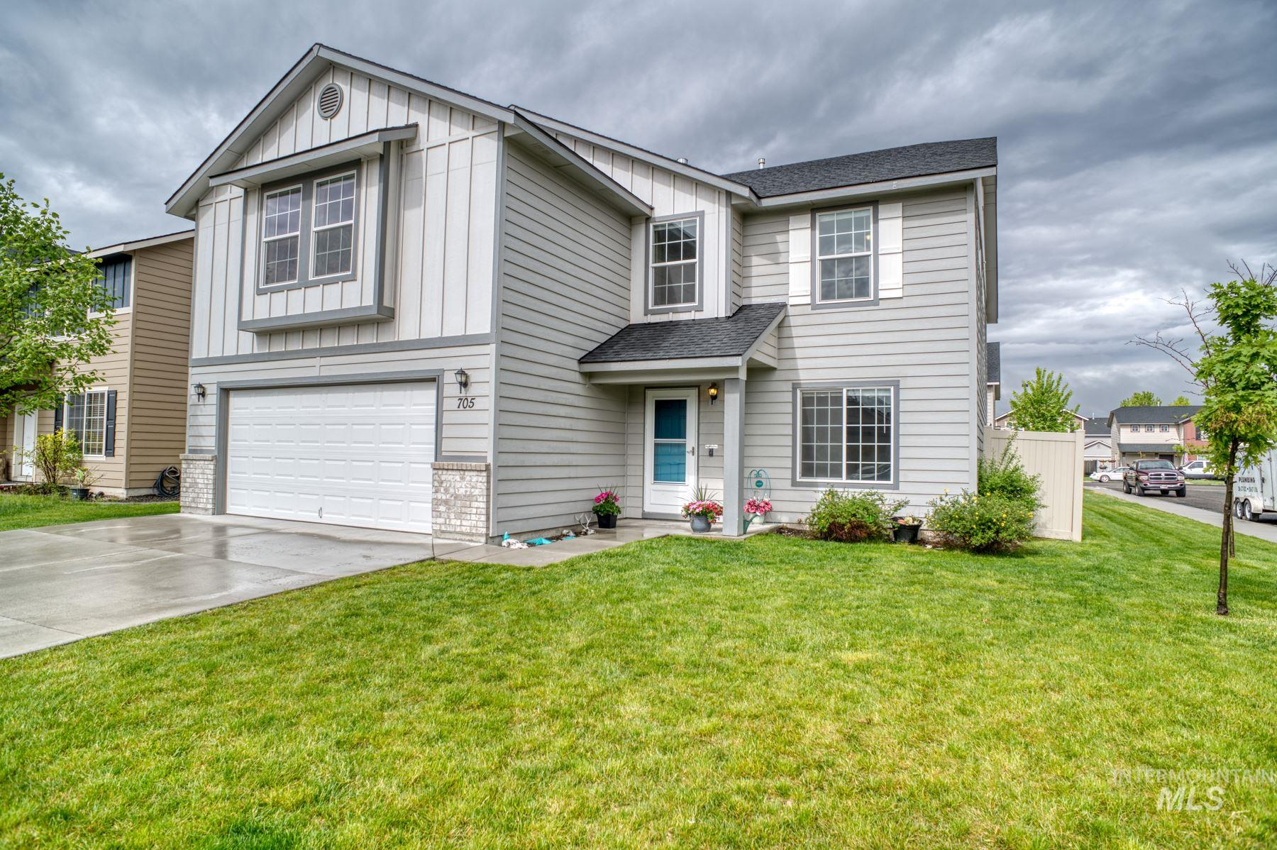 Live large in this spacious home w/corner lot & tons of room to stretch! Cook the perfect meal for friends & family in your well-appointed kitchen w/gas range, tons of storage, & ample counter space, then slip away to the huge master retreat to relax, reset, & recharge! Main-level bedroom and full bath is perfect when mom comes to visit! Living room? Check! Family room? Check! Bonus Room? Check!! Extended stamped concrete patio & shed for additional storage! Easy access to the freeway for a quick commute!