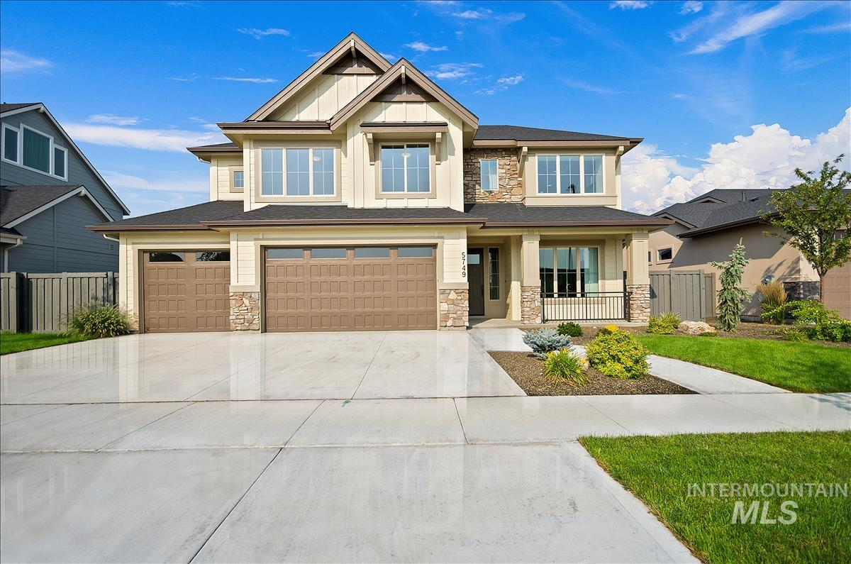 Beautiful home w/open concept living. Features 4 bedrooms, bonus room & separate office!  Spacious great room w/vaulted ceilings, fireplace w/ alderwood built-ins, wall of windows, stunning kitchen w/quartz counters, bosch appliances, a large island & walk -in pantry. Main level master suite w/walk-in shower & extensive tile. Upstairs you will find 3 spacious bedrooms w/walk-in closets, full bath w/dual vanities . Across from park & community pool. Close to Schools, YMCA, & Golf Course. BTVAI Welcome Home!