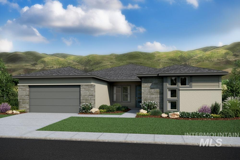 Cul-de-sac living! The Sagewood, by Boise Hunter Homes, offers a spacious design in an alluring single level home. With the vast great room connected to the dining area and kitchen, you'll have the perfect place to gather. In the backyard, the covered patio provides an excellent location to relax. Other features include granite counters, fireplace, 3 bay tandem garage with shop extension, bonus room, mud room, freestanding master tub, and more. **PHOTOS SIMILAR**