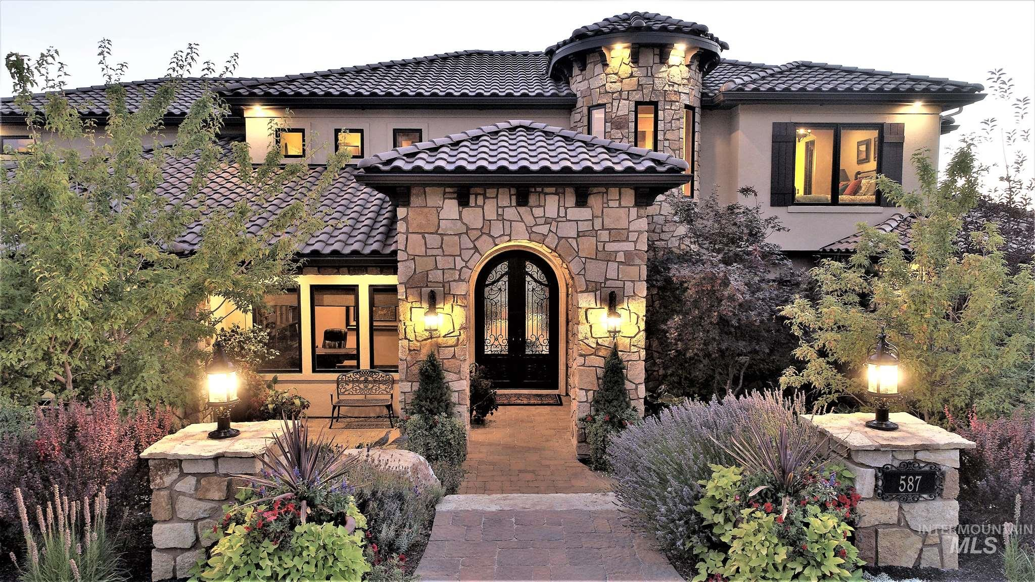 This Tuscan influenced home exudes Elegance & Fine Craftsmanship at every turn. From the Grand Entry & the carefully designed floor plan to the large Back Patio with a BBQ & Jacuzzi. Finishes include exquisite custom woodwork, Natural Stone & fine architectural details throughout. Situated on a Premium foothills lot, the Home has been designed with every detail in mind including taking advantage of the beautiful views & a venue for elegant or relaxed entertaining with a Private Wine Cellar. See the V Tour !