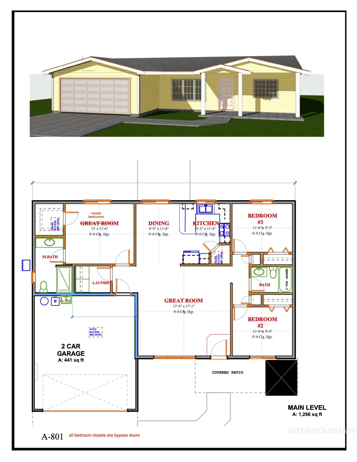 841 E Freedom, Emmett, Idaho 83617-0000, 1 Bedroom, 1 Bathroom, Residential For Sale, Price $241,900, 98784614