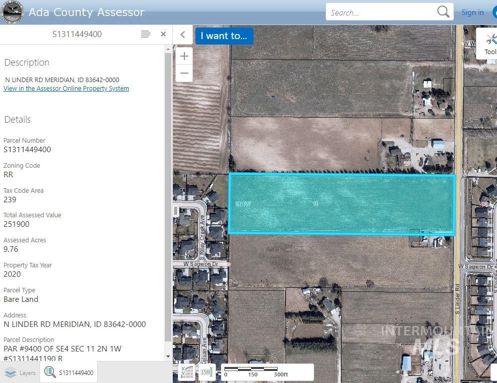 N Linder Road, Meridian, Idaho 83642, Land For Sale, Price $1,100,000, 98785792