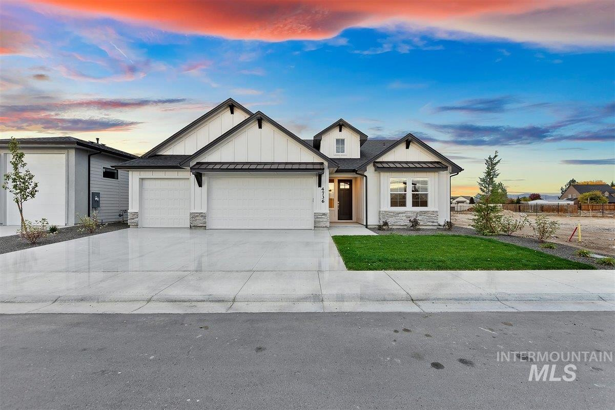 Presold. This beautiful, single level home built by Fall Creek Homes has it all! The custom trimwork & gorgeous finishes thruout make it truly special w/engineered hardwood flooring, extensive tile work & designer lighting. You'll love the Master Suite w/a relaxing free-standing tub, his/hers separate vanities & large full tile, walk-in shower. The open concept floor plan offers a massive kitchen island, bright dining space & luxury appliances. With a oversized garage and huge covered patio.*Photos Similar*