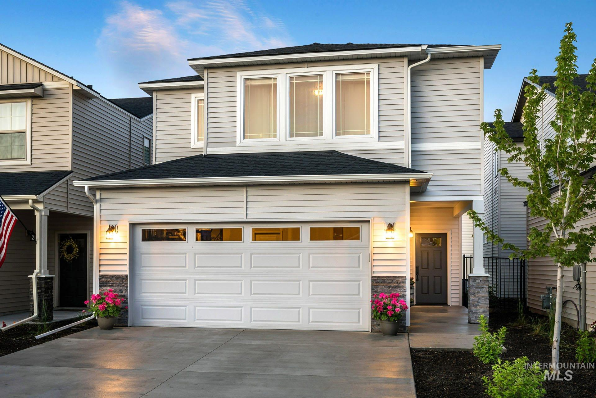 Biltmore | Blackrock Homes. Brand new completed model, just released by the Builder! Fantastic location. The entry opens to a large Great Room with a main level Tech Center w/ built-in desk & cabinets that is super functional. Master upstairs w/ large dual vanity + 2 more bdrms & a large loft that flexes as 2nd TV area. Lots of storage! Photos and Tours are similar; HOA takes care on landscape maintenance, front yard and rear yard, NO MOWING!