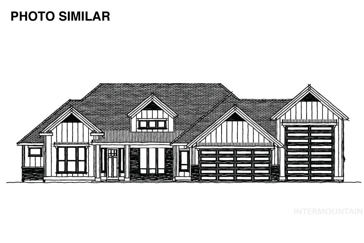 """Welcome to """"The Collins"""" by Biltmore Co! This plan features a chef's kitchen w/ large island, stainless steel appliances with double ovens & huge pantry. The great room has a beautiful coffered ceiling & built-ins beside the stone fireplace. A flex space off of the entry offers endless possibilities. The master suite boasts dual vanities separated by a large soaker tub, tiled shower with two shower heads and a walk-in master closet. - Lorin Peterson, Main: 208-841-0204, Silvercreek Realty Group, Main: 208-377-0422,"""