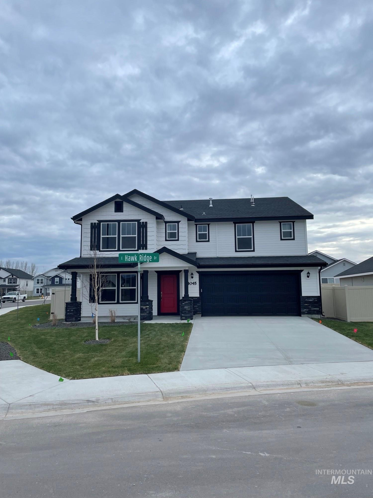 Pre-sold Spruce with Craftsman Elevation. Photo Similar. This home features lvp, granite kitchen countertops, upgraded cabinets, full tiled walk-in shower,  deluxe kitchen with built-in double oven, full sprinklers, extended patio, butlers pantry, and much more!