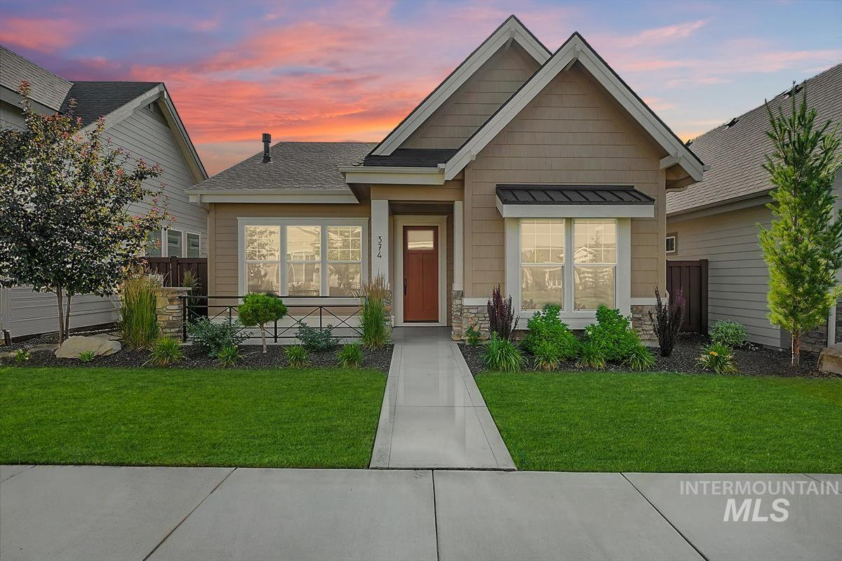 This beautiful home is located within Cadence, a community for persons 55+ years of age or older. The Minnie Belle's floor plan has an open concept that makes this home perfect for entertaining. Relax in the beautiful master suite with walk-in shower and large master closet. The kitchen features custom cabinets, walk-in pantry, Bosch stainless steel appliances and Kohler throughout - a Brighton standard! 100% Energy Star Certified. Community features swimming pool, landscape care & much more.