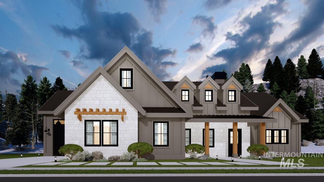The Anna by Maddyn Homes. Tucked back on a private lot in estate sub East Ridge. Featuring mother-in-law suite or 2nd master on the main, large office, stunning master suite, RV garage, lg patio and open living areas. Upstairs bonus & bath could be 4th bedroom. Home is fully upgraded throughout with quartz, custom cabinets, designer lighting, accent trim and stunning vaulted ceilings in the great room, master & 2nd master. Too many energy features to list in this high performance home. Premier home warranty - Jade Enzler, Main: 208-484-9831, Silvercreek Realty Group, Main: 208-377-0422,