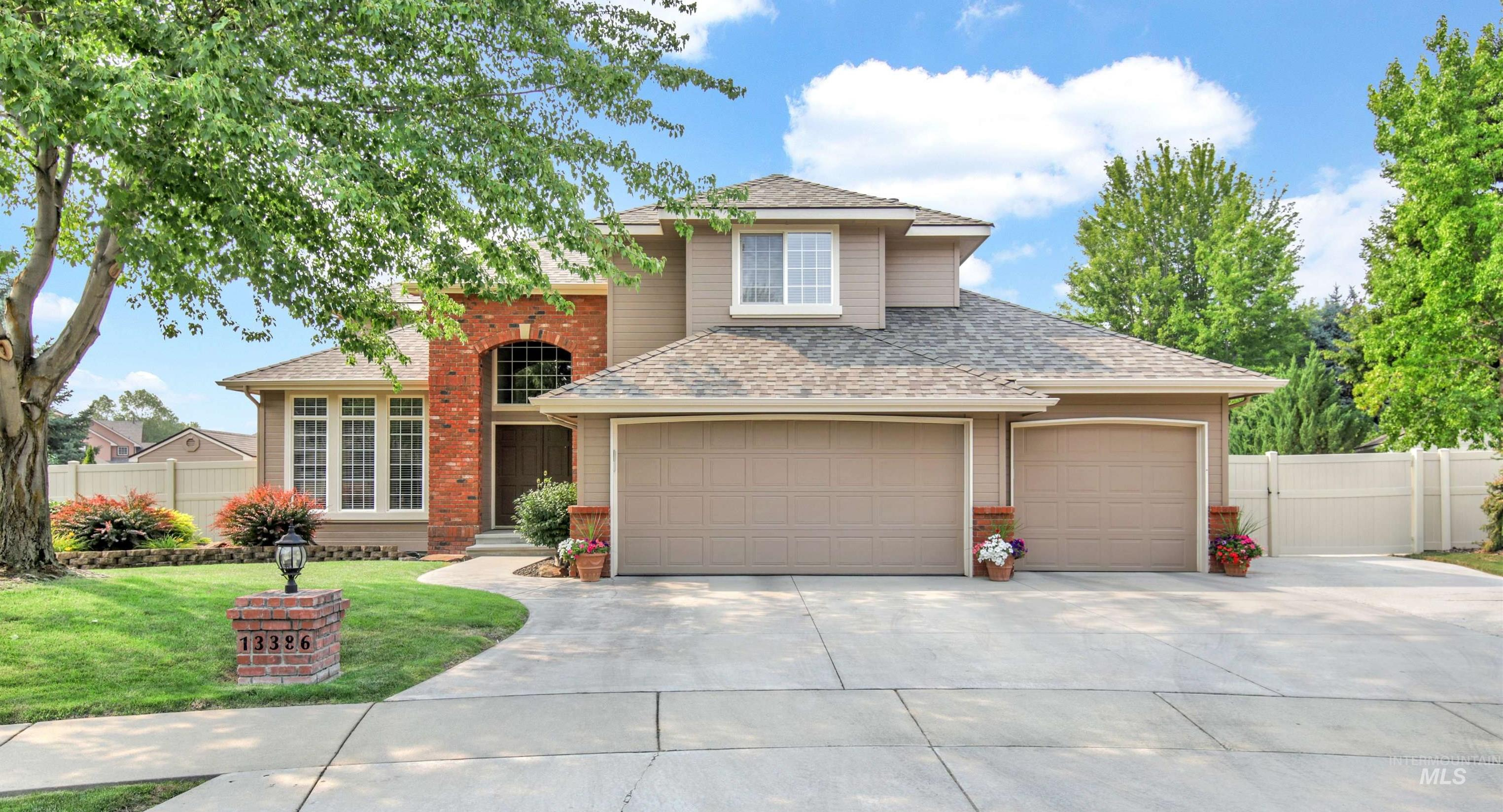 Meticulously maintained home and backyard oasis.  5 bedrooms and 4 full baths- nearly 4000 feet. Extra Large lot beautifully landscaped with a private saltwater pool, automatic cover and diving board.  Covered patio large enough for 2 seating areas.  Updated kitchen attached to family room.  4 large bedrooms upstairs and an additional bedroom or office flex room with full bath on main level.  Fully finished large basement with bathroom. Cul-de-sac and full vinyl fencing. Walking distance to park and YMCA. - Vikki M Kaylor, Voice: 208-860-2866, Silvercreek Realty Group, Main: 208-377-0422,