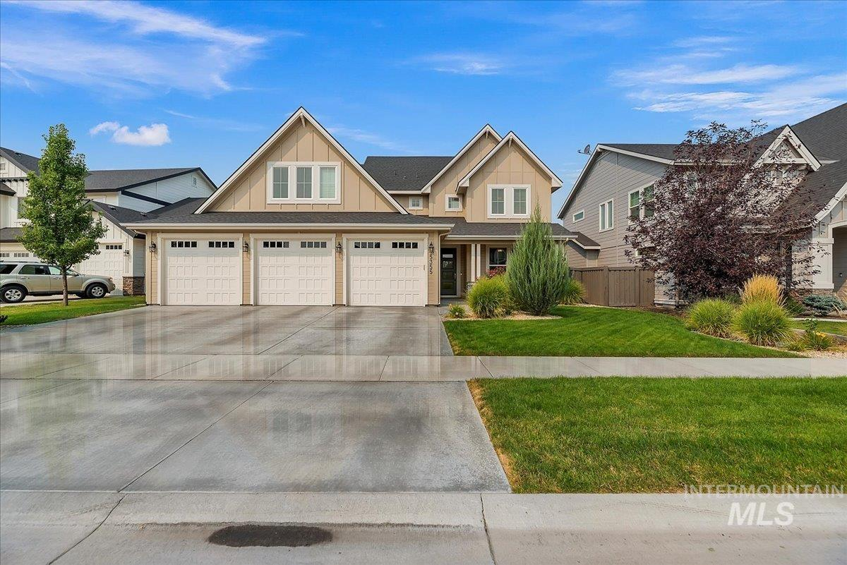 Welcome home to this stunning new listing in Century Farms! The neighborhood features 2 community pools, a common area, parks, and a brand-new Meridian YMCA.  The home features a 3 car garage, 3083 SF, a spacious main level master suite with the bath boasting dual vanities, a large walk-in shower, and an oversized soaking tub. The main floor features an open floor plan with a spacious kitchen with granite countertops and a large eating bar, double ovens, upgraded cabinets, and hardwood floors. The great room is light and bright with large windows and an impressive fireplace with built-ins. The upstairs features 3 large bedrooms, two of which have walk-in closets and a spacious bonus room for the kids or a workout room.  A nicely landscaped oversized backyard with two covered patios completes this awesome family home. - Dave Kallas, Voice: 208-870-8800, Silvercreek Realty Group, Main: 208-377-0422, http://www.davekallas.com