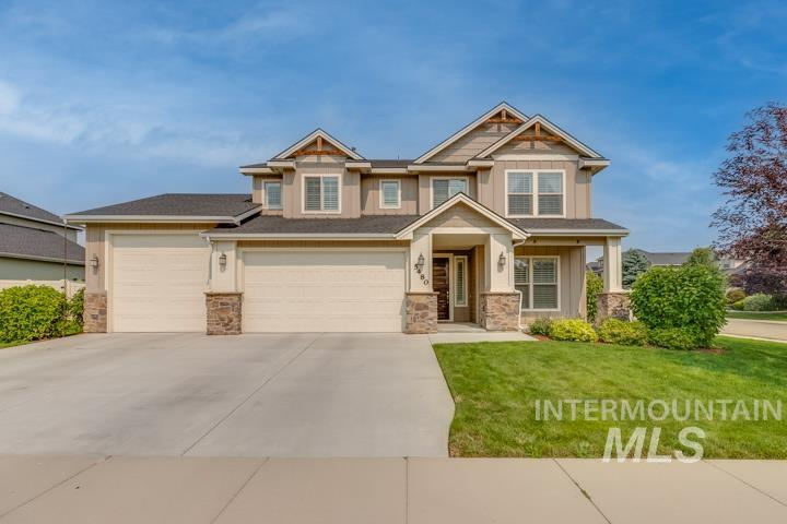 Immaculate 4 Bed / 2.5 Bath in desirable Brookdale Meadows neighborhood. This open concept design has gorgeous hardwood floors and a stunning great room with gas fireplace. Professional's office off-entry with interior doors for privacy and a separate office nook. Chef's kitchen features slab granite countertops, stainless steel appliances, double oven, island and pantry! Bonus Room upstairs as well as conveniently located laundry. Spacious Owner's Suite with dual vanities, soaker tub, large tiled shower and walk-in closet. Private, east-facing backyard with mature trees and covered patio. 3 car garage with oversized 3rd door. - Jake T Conklin, Voice: 208-866-7866, Silvercreek Realty Group, Main: 208-377-0422, http://theconklinteamboise.com