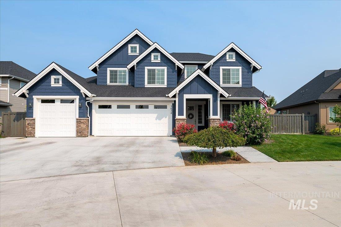 COME SEE US TODAY @ OPEN HOUSE 09/04 from 11:00-3:00 Custom Built Alturas Home.  Great floor plan w/5 Beds, 3.5 baths, XL mud room, main level office, upstairs bonus room w/view and built in reading nook! 2 Kitchen Pantries, built in tech space & Main Level Master Suite.  Quality finishes throughout; extensive crown molding, trim work, cabinets/shelves, ceiling fans, coffered ceilings, high window count, quartz, stunning kitchen & more!  No rear neighbors and North facing backyard.  Just Minutes to the freeway, shopping, Meridian YMCA & Aquatic Center, Schools... - Laura Harris, Cell: 208-989-5629, exp Realty, LLC, Main: 208-890-7776, http://greaterboisehomefinder.com