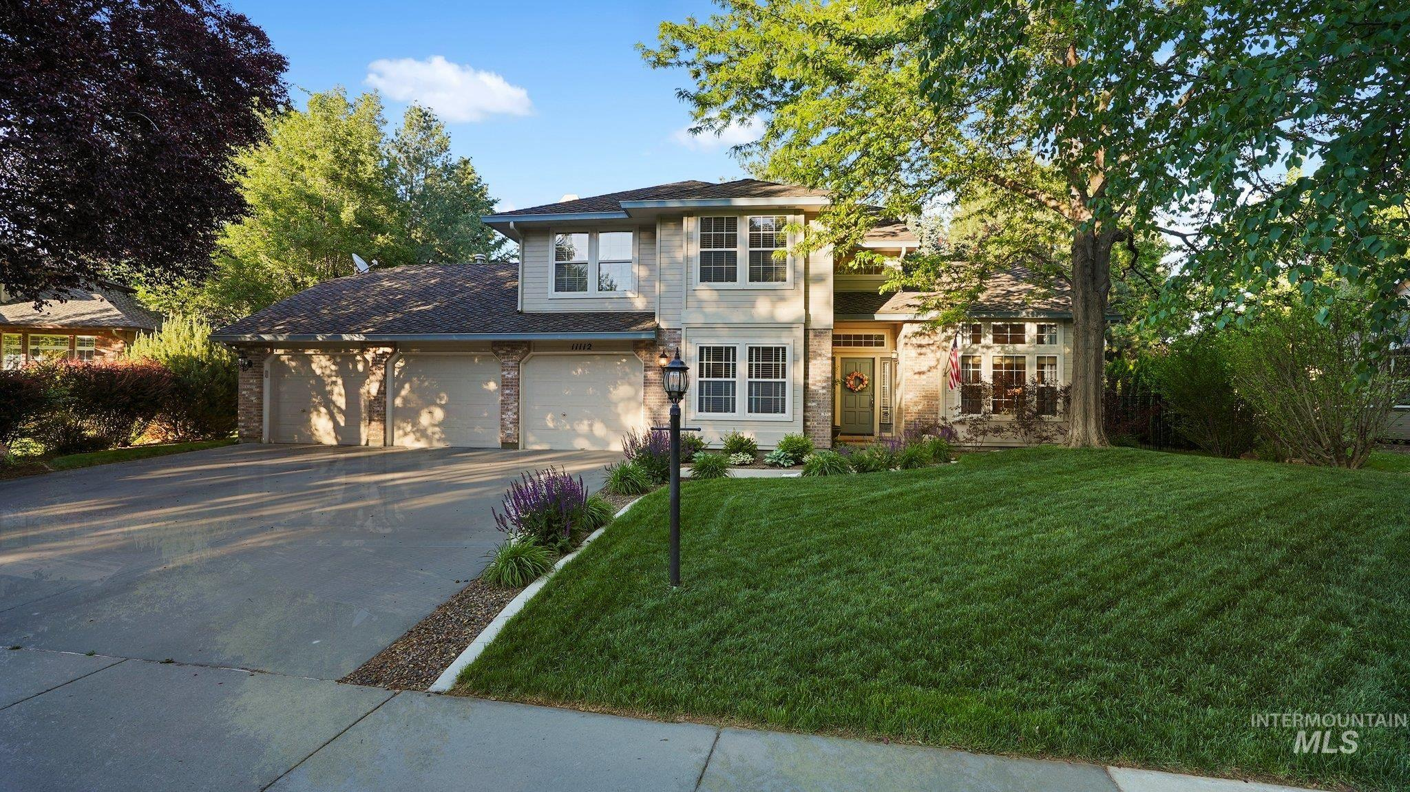 """Fabulous home located in the coveted Hickories Subdivision. The 17' grand entryway welcomes you to this large, move-in ready, 4 bed + office/ 5th  bed, 2.5 bath, well-built home with expansive real hardwood, loads of windows and natural light. The remodeled kitchen features granite and quartz countertops, full tile backsplash, walk-in pantry and large island. Premium SS appliances include a large double oven and 36"""" induction cooktop. Step out back to an amazing east-facing, private, park-like backyard with mature landscaping/trees, 90' hand-stacked sandstone wall, blocking, concrete edging, huge redwood deck and fire pit all make for a beautiful and excellent outdoor entertaining space on .29 acres. Built-in cabinets, crown molding throughout, central vac, floor to ceiling windows and 10' formal/flex living space. Large, 900+ sqft 3-car garage with insulated walls/ceiling/doors, epoxy floors, 220v, whole house surge protector, 30 amp RV outlet and 75 gal. water heater. 50-year presidential roof. - Nick Rice, Voice: 208-870-3171, RE/MAX Advisors, Main: 208-375-9700, http://www.nicklrice.com"""