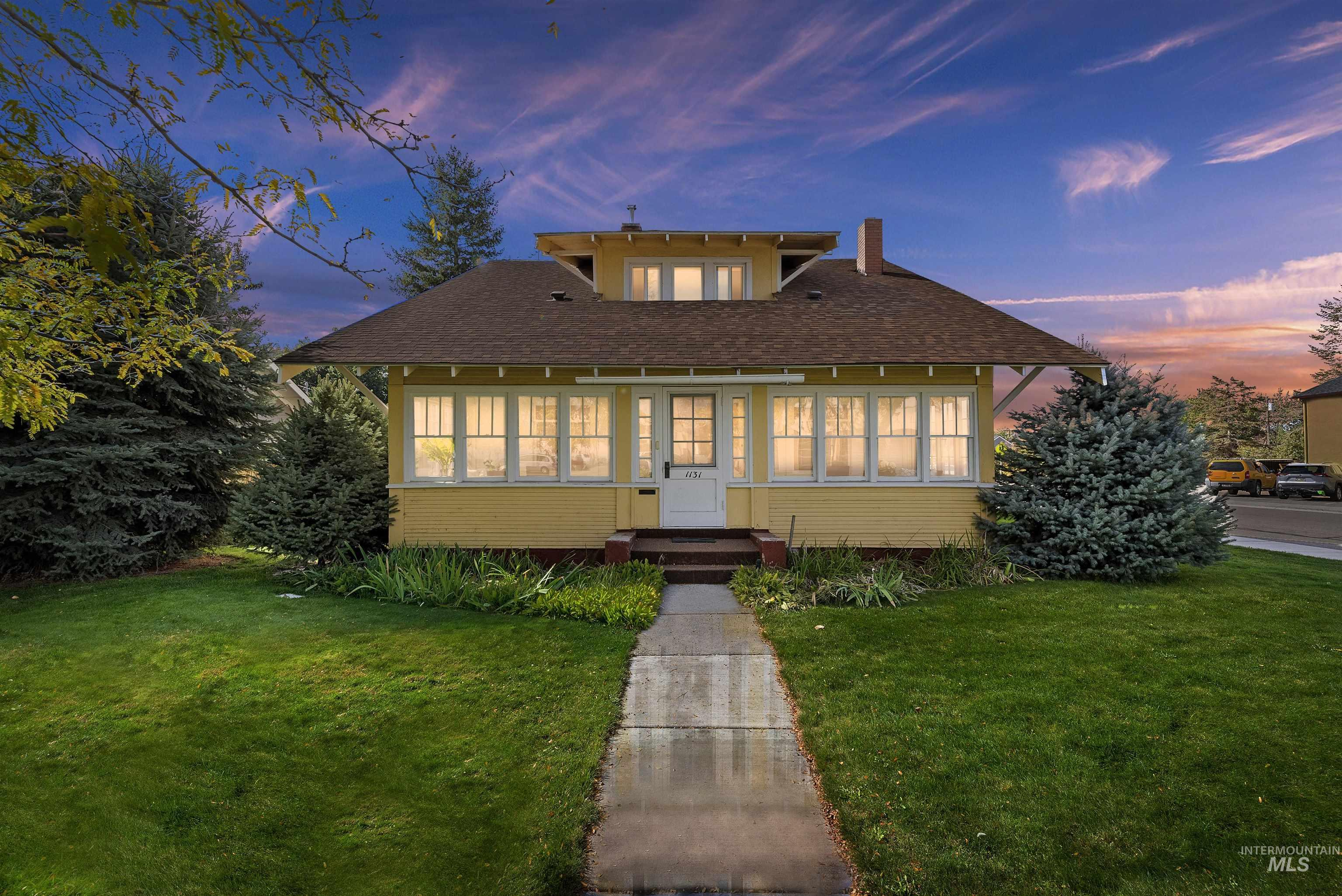 The heart of Meridian offers this timeless, charming and authentic Craftsman home. Rare treasure with beautiful 1920's millwork, built in book cases with glass doors, glass sliding pocket doors between the living room and the dining room, where many cherished memories have been made.  Quaint eating nook in kitchen with table and benches.Amazing 300 sq ft enclosed sun porch surrounded by windows creates a wonderful place to welcome family and friends.  1182 sq ft partially basement is open for your imagination.  Most of the neighboring homes have been approved for small businesses. Upstairs includes a bathroom and 3 additional bedrooms.  This 100 year old home has had only 2 owners and has always been owner occupied.  A century of love has gone into this home.  Stroll to Cafe's, grocery stories, schools, and everything that the darling downtown Meridian has to offer.  Bring your imagination and make this a place for you to grow fond memories. In home office? Small business?  Endless possibilities. R-15 z - Shirley Sterner, Main: 208-494-4008, Silvercreek Realty Group, Main: 208-377-0422,