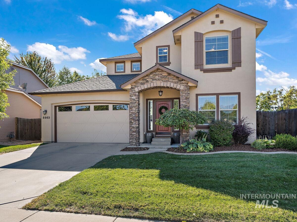 Beautiful single-owner home in prized NE Meridian location - walking/biking distance to schools, a variety of parks, and community pool! The oversized 3-car tandem garage offers plenty of space for storage. Backyard features a large 30x10 covered patio surrounded by mature trees. The two-story great room brings natural light into the home year-round, and large, open kitchen with counter-height granite tile island makes this a great space for entertaining and making gourmet meals. The addition of custom barn doors on the main level bedroom allows this space to be used as an office, but easily converted back to a bedroom. Plenty of versatile living spaces in this home with an den/living room at the front of the home, and upstairs loft. Walkthrough is available by navigating to virtual tour. - Amanda McDonald, Voice: 208-891-7664, Silvercreek Realty Group, Main: 208-377-0422,