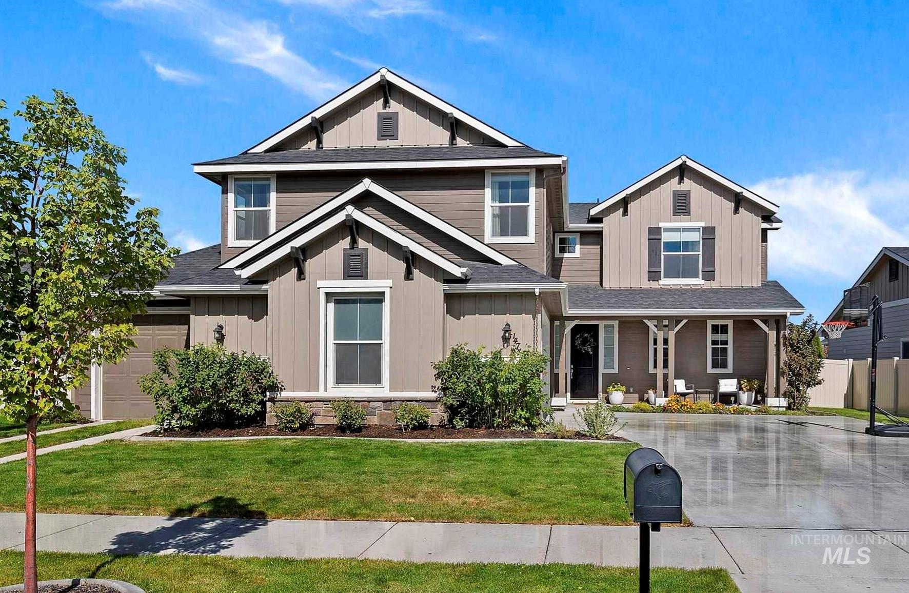 OPEN HOUSE- SATURDAY 10/23 12-3:00! Quick freeway access to Boise & the Airport. You will love this home in the highly desirable community of Fall Creek with a large community pool & park. The open floor plan is perfect for entertaining and gives this spacious 5 BED, 4 BATH, 3 CAR+BONUS a place for everyone to gather. The large open kitchen w/quartz counters are perfect for entertaining with the sink in the island & large pantry. Refrigerator & reverse osmosis system included! Extra-large mudroom with plenty of storage to keep things tidy. Downstairs guest room/5th bedroom/office and full bathroom off of entry. Master has double vanity & dual closets along with a soak tub for relaxing. Enjoy outdoor living with the extra-large patio with covered dining. Better than new with mature landscaping and fenced back yard & garden. Convenient location with easy access to freeway, shopping, schools, adjacent to Victory Middle School & 18-acre Bear Creek Park. Waterpark nearby! This is your new home!1 year HOME-WARRANTY - Nichole Wilkinson, Main: 208-850-1330, Silvercreek Realty Group, Main: 208-377-0422,