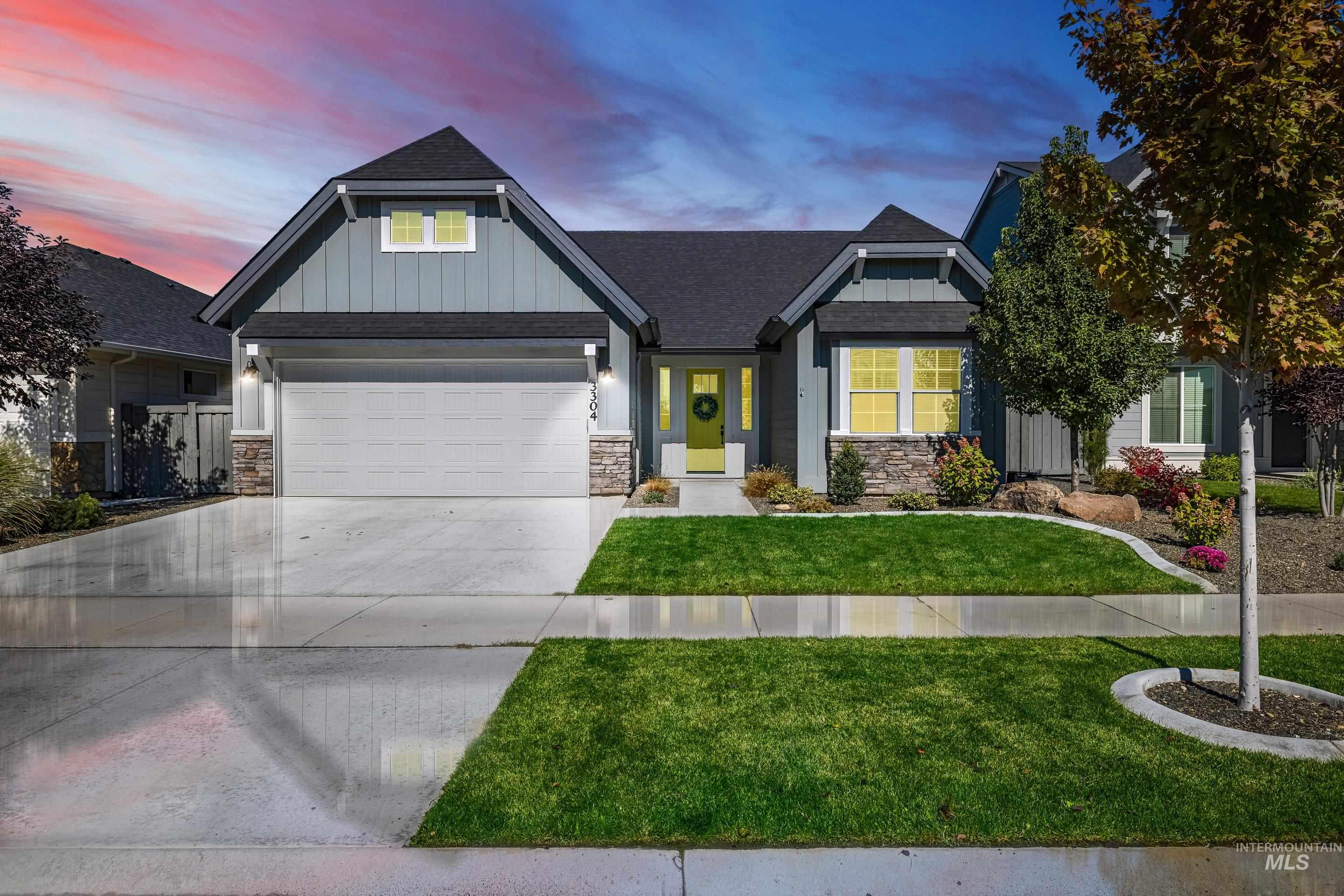 Great Location in SE Meridian | Century Farms is a quiet well kept community with walking paths, community pool and easy access to the freeway and the new YMCA.  This charming home was built by Alturas in 2018, a smart single level design with modern finishes - shiplap accents, barn door, builtins and modern tile details.  The split bedroom floor plan offers a large master suite with a spacious closet and spa like shower.  The kitchen is the heart of the home complete with Bosch appliances, 5 burner gas cooktop,  pantry space with appliance bar.  The main living space offers large windows and the 10' ceilings throughout give this cozy home a grand feel.  Outdoors is fully fenced, plumbed for gas and ready to entertain on the extended patio. The home is better than new and includes many upgrades: window treatments, refrigerator, washer, dryer, water softener, reverse osmosis, garage shelving. - Michelle Vincelli, Main: 208-571-8444, Keller Williams Realty Boise, Main: 208-672-9000,