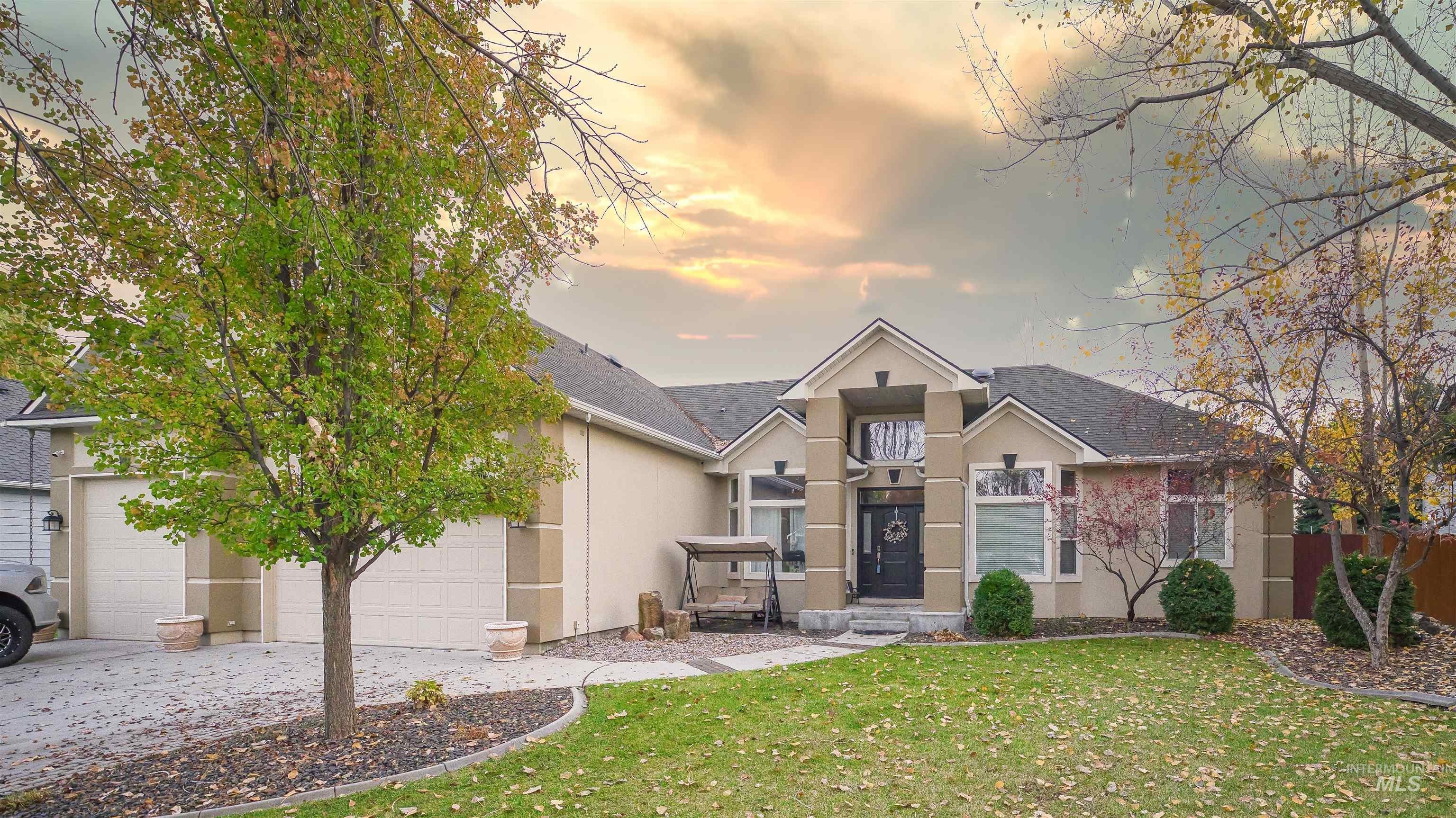 """Beautiful single level home on 1/4 acre lot Next to Lakeview Golf Course, with large 3+ garage, RV bay, and RV parking behind gates.40x20 back patio (pavers) with sun shade, Hot Tub, and Above Ground Pool. There are New hardwood floors done in 2021 in Entry, Hall Ways, Office, Kitchen, and Dining Room. New Lighting Fixtures, A/C in Garage, There is room for everyone in this home with a large great room, a formal living room, Plus an Office. The home is considered a """"smart Home"""", you can control the entire house with your phone or tablet. These homes don't come for sale very often and this is a MUST see! - Phabian Essink, Main: 208-867-9159, Silvercreek Realty Group, Main: 208-377-0422, https://Phabian.Essink.SilvercreekRealty.com"""