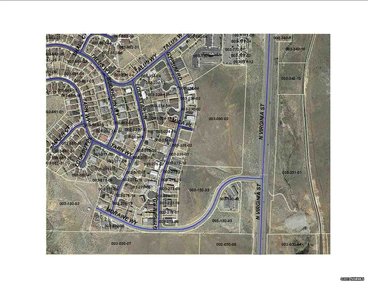 Land for Active at Moraine Drive Moraine Drive Reno, Nevada 89503 United States