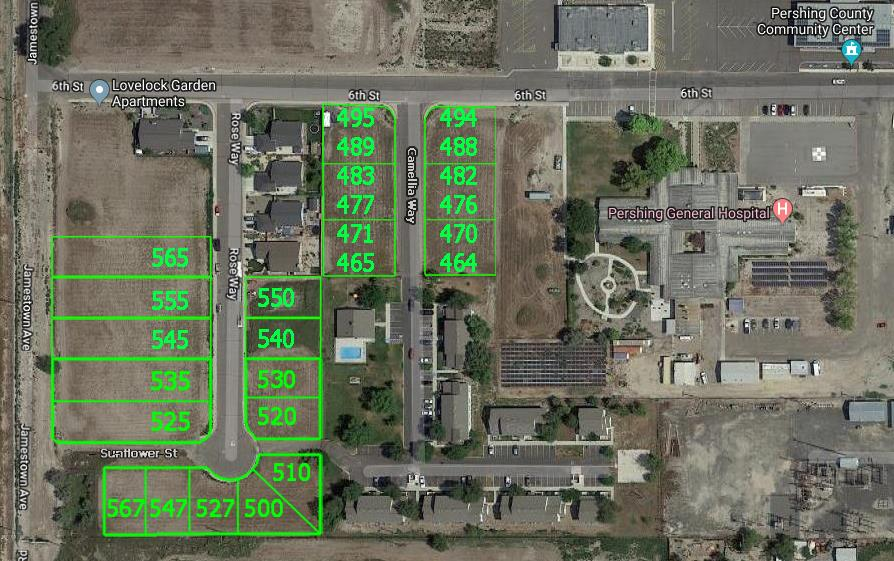 Land for Active at Rose/Sunflower/Camellia Lovelock, Nevada 89419 United States